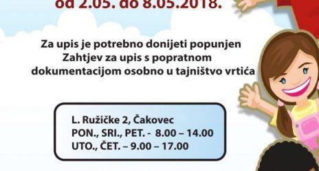 UPISI U PEDAGOŠKU GODINU 2018./2019.